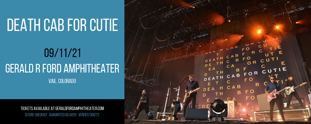 Death Cab for Cutie at Gerald R Ford Amphitheater
